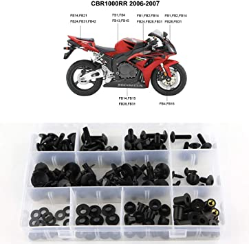 for Yamaha YZF-R6 2006 2007 Xitomer Complete Bodywork Screws Full Set Fairing Bolts//Washers//Nuts//Clips//Grommets Titanium