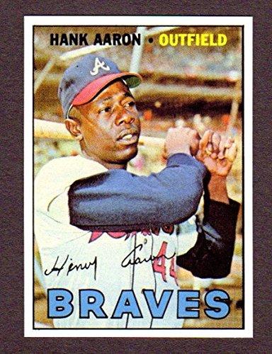 Hank Aaron 1967 Topps Baseball Reprint Card W/ Original Back (Milwaukee Braves) (Atlanta) ()