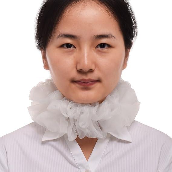 BLESSUME victoriano Ruffle cuello Renacimiento traje cuello ...