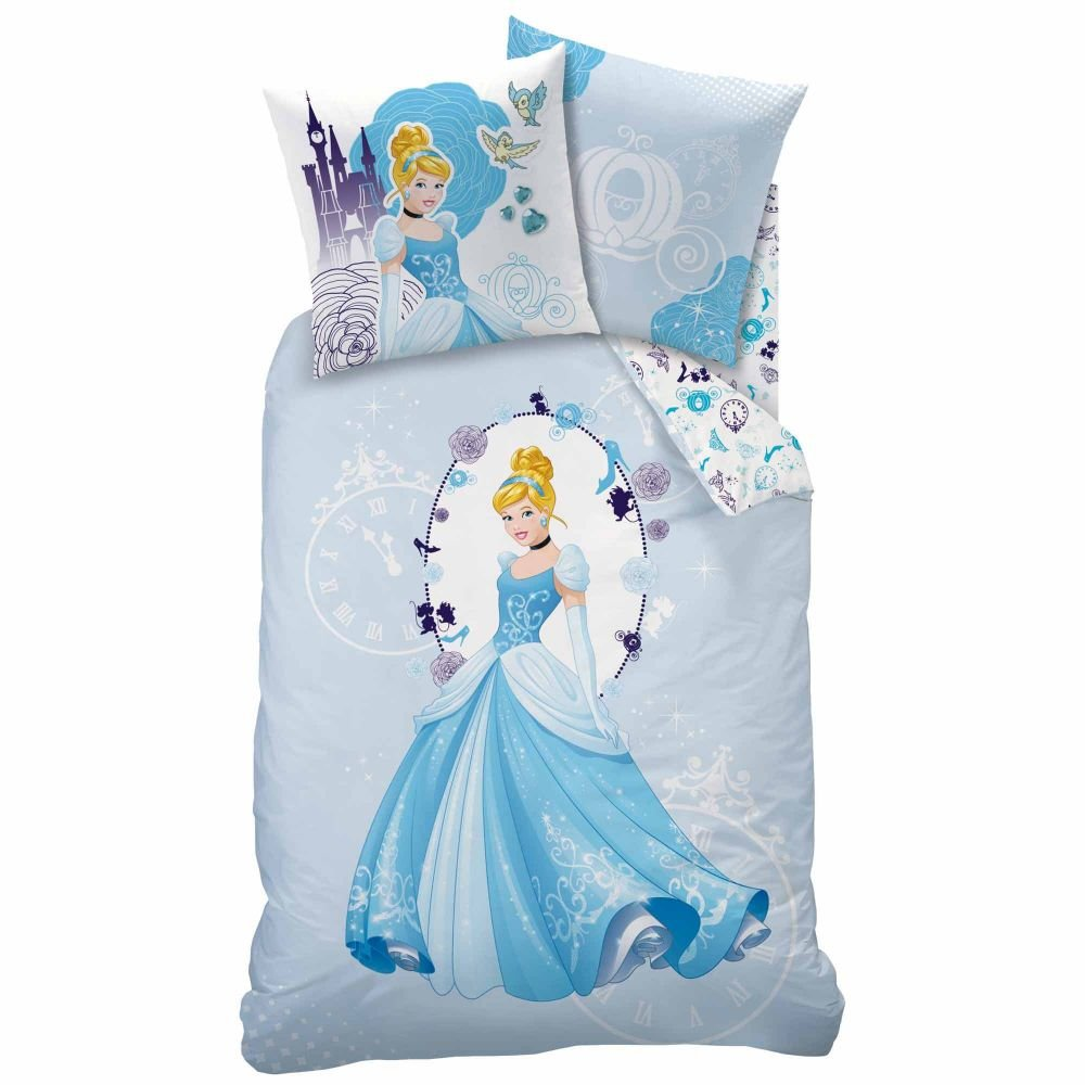 character Disney Princess 'Cinderella' Duvet Cover + Pillow Cover 140x200cm Single bed Cotton (Exclusive)