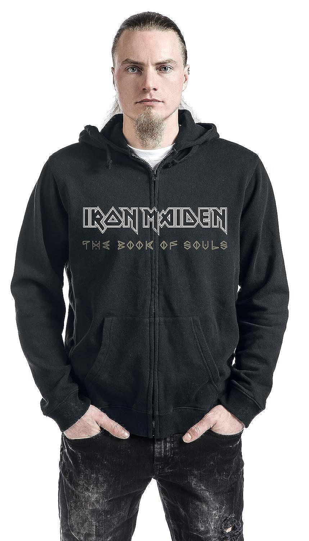 Iron Maiden Book Of Souls Exploding Head Sudadera capucha con cremallera Negro 3XL: Amazon.es: Ropa y accesorios