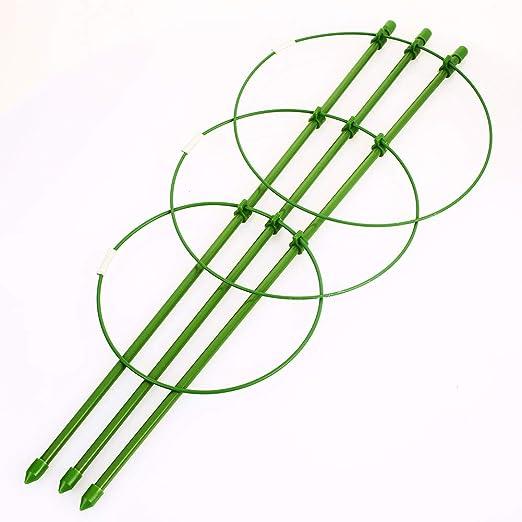 Voraca - Jaula de flores para plantas, triple pilar de plástico ...