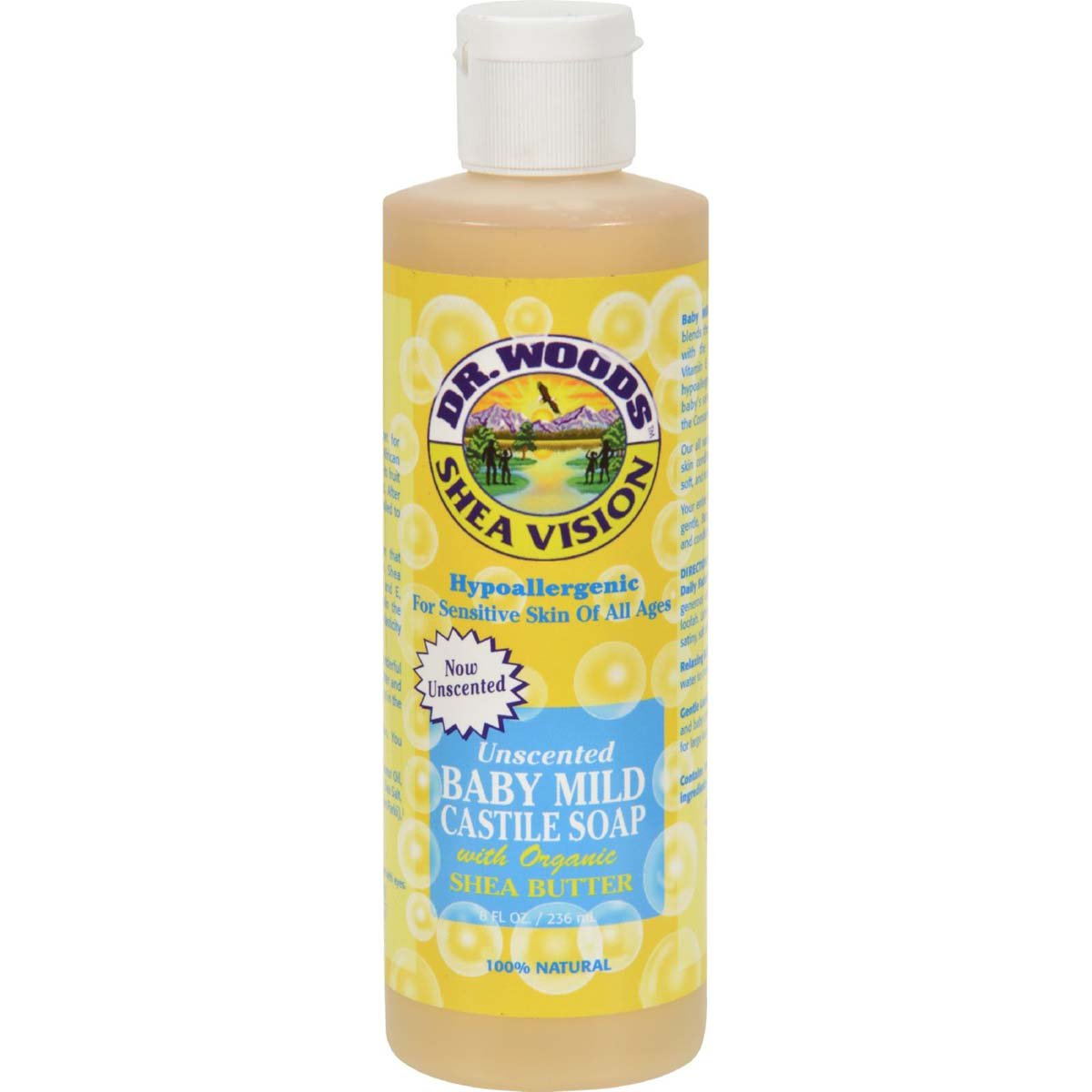 Dr.Woods Products Baby Castile Soap with Shea Butter, Shea Butter 8 Oz Sylvia's Food Products 2900