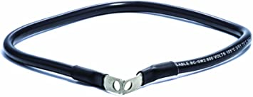 Camco 47444 Black 5//16 Stud 24 Long 4-Gauge Marine Battery Cable and Lug Assembly Tinned