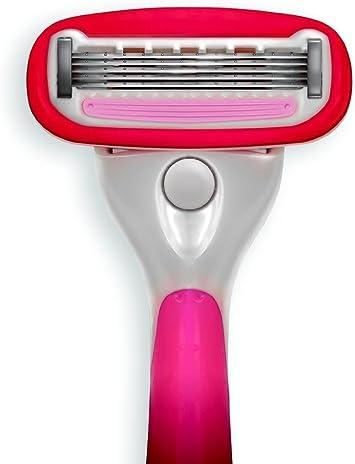 El último afeitado® Las mujeres del calibrador Razor Plus un Bulk Pack de 12 cartuchos de recambio de cuchilla de afeitar y una maquinilla de afeitado de la mujer mango: Amazon.es: Salud