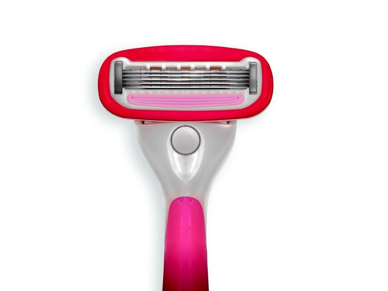 The Ultimate Shave® Women's 5-blade Razor plus a Bulk Pack of 12 Razor Blade Refill Cartridges and a Women's Shaving Razor Handle 800Razors.com