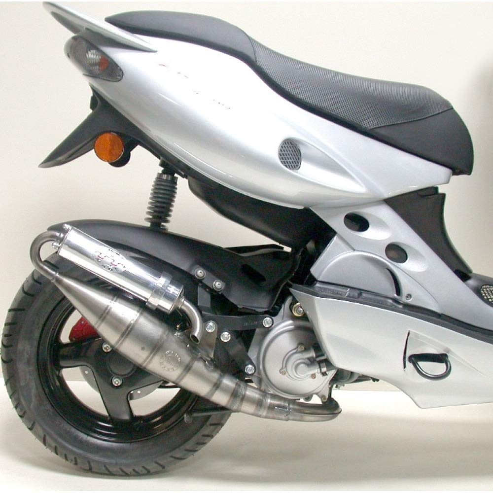 Auspuffanlage LeoVince Aluminium Komplettanlage Handmade TT f/ür Aprilia SR Stealth//Racing LC