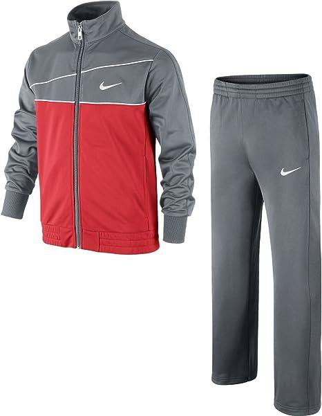 Nike T Adj Warm-Up YTH - Chándal para niño, Color Gris/Rojo Oscuro ...