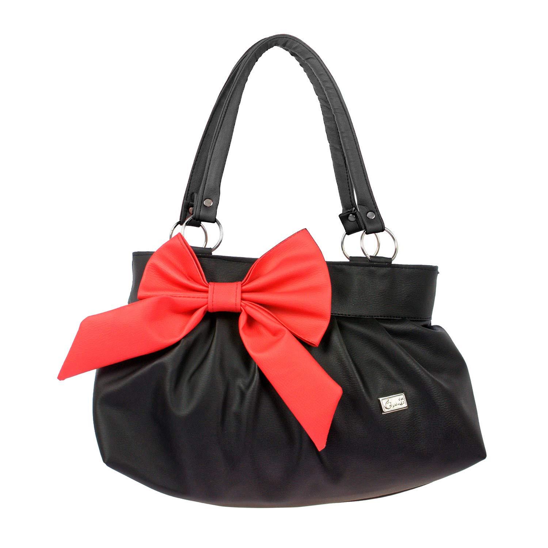 6d851e3d29 JG Shoppe Stylish and Fashionable PU Leather Handbag/Shoulder Bag/Purse For  Women/Girls/Ladies (Black): Amazon.in: Shoes & Handbags