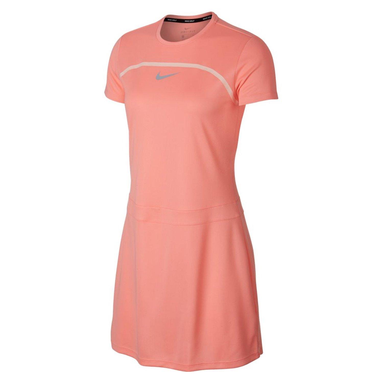 NIKE Dri Fit Shortsleeves Golf Dress 2018 Women Light Atomic Pink/Crimson Tint/Flat Silver X-Large