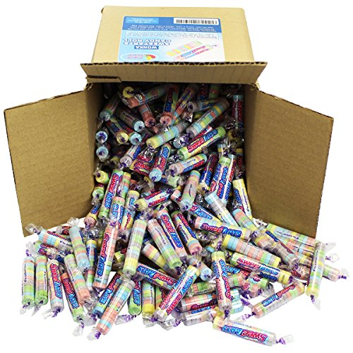 Sweet Tarts Candy Bulk - Wonka Sweetarts Twist Wrap Candies Party Box in a 6x6x6 Family Size -