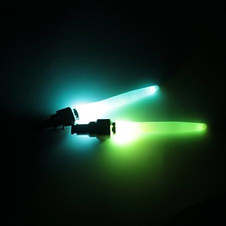 2Pcs LED Motion Activated Glow Bike Motorcycle Tire Valve Stem Caps Neon Light