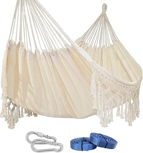 PIRNY Double Bohemia Cotton Hammock Hanging Swing