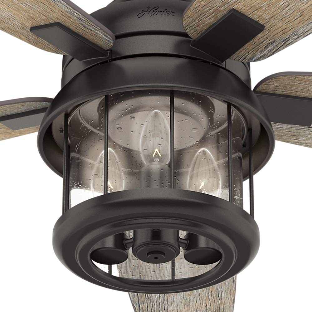 Hunter Fan Company 59420 Hunter 52 Coral Bay Noble Bronze LED Light and Handheld Remote Ceiling Fan