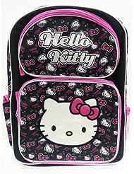 Hello Kitty 16 Black Tone School Backpack