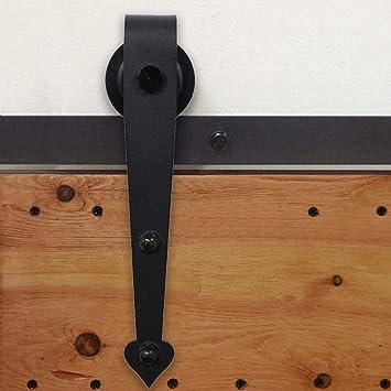 6.6FT/201CM Herraje para Puerta Corredera Kit de Accesorios para Puertas Correderas Juego de Piezas,Forma corazón,negro: Amazon.es: Bricolaje y herramientas