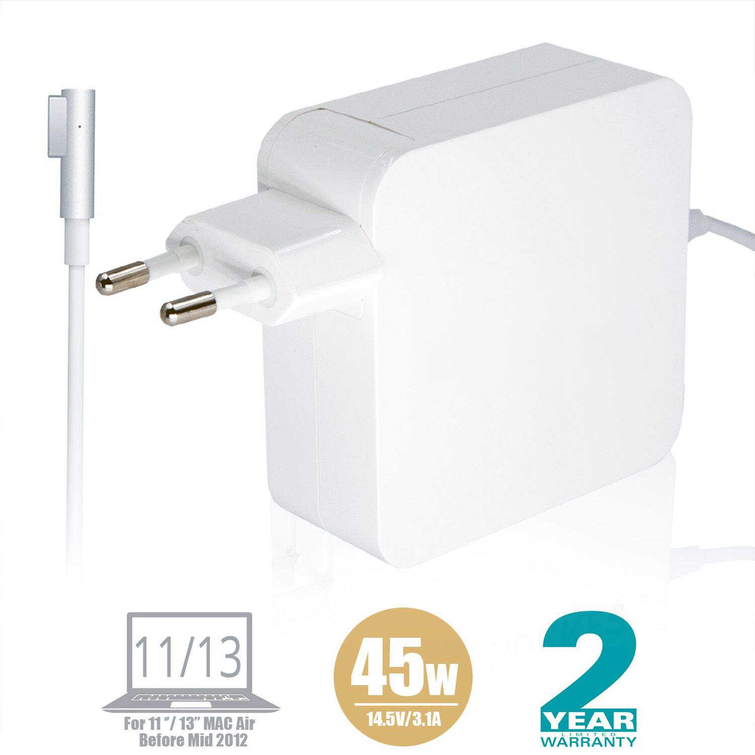 MacBook Air Cargador Adaptador - rokkes 45 W MagSafe L de ...
