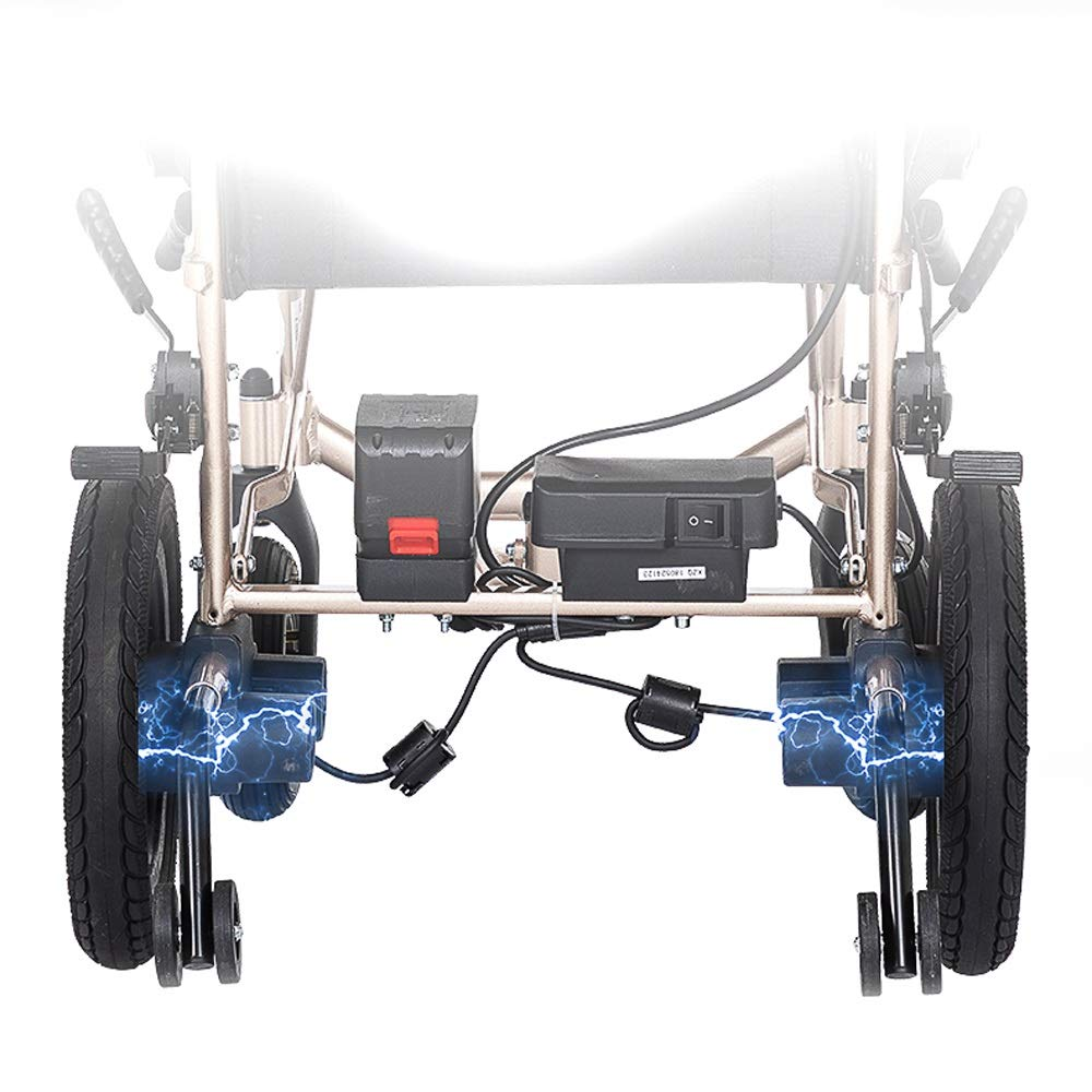 Amazon.de: MEI XU Elektrischer Rollstuhl, Aluminiumlegierungs ...