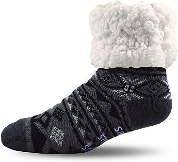 Pudus adult regular cozy winter classic slipper socks with grippers 3f4e8ea5fa63