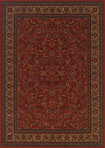 Couristan 3791/4872 Everest Isfahan 110-Inch by 149-Inch Polypropylene Area Rug, Crimson