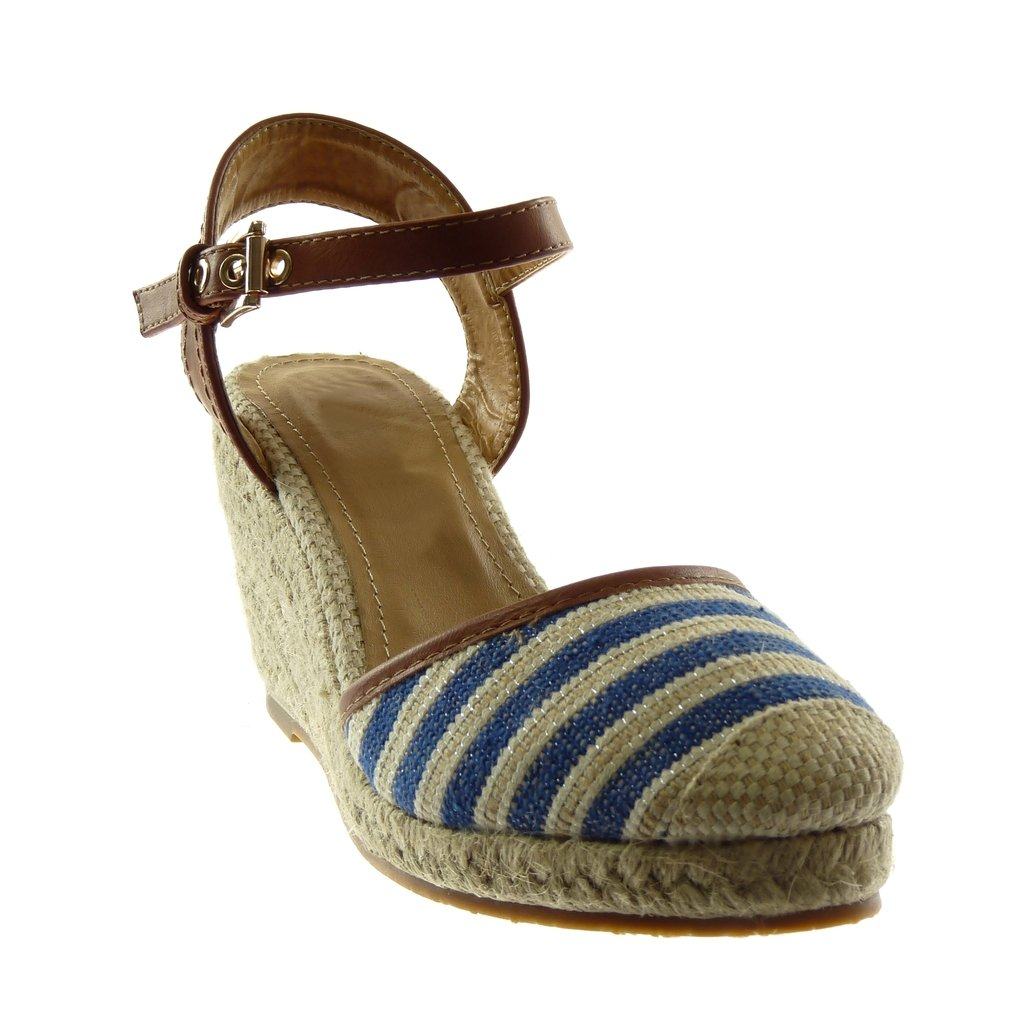 cecaa74f4 Angkorly Women's Fashion Shoes Sandals Mules - Ankle Strap - Bi Material -  Platform - Cord - Braided - Bicolour Wedge Platform 9 cm: Amazon.co.uk:  Shoes & ...