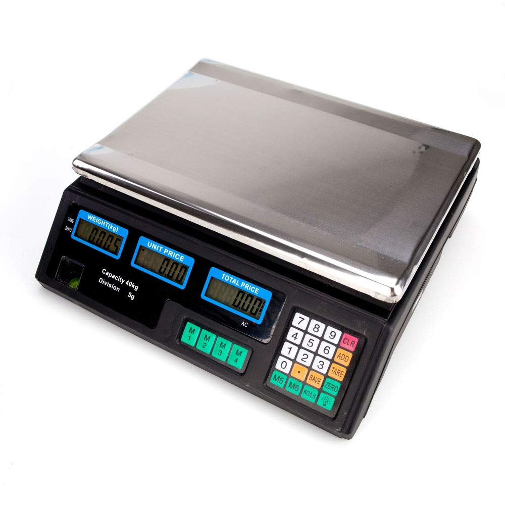 Jskjlkl Professional LCD Display Vegetable Scale Digital Price Computing Scale 40kg//5g