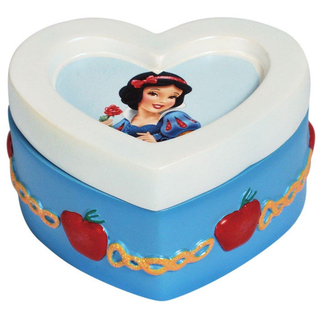Westland Giftware Disney Resin Trinket Box Figurine, 1.75-Inch Tall, Snow White Heart 24307