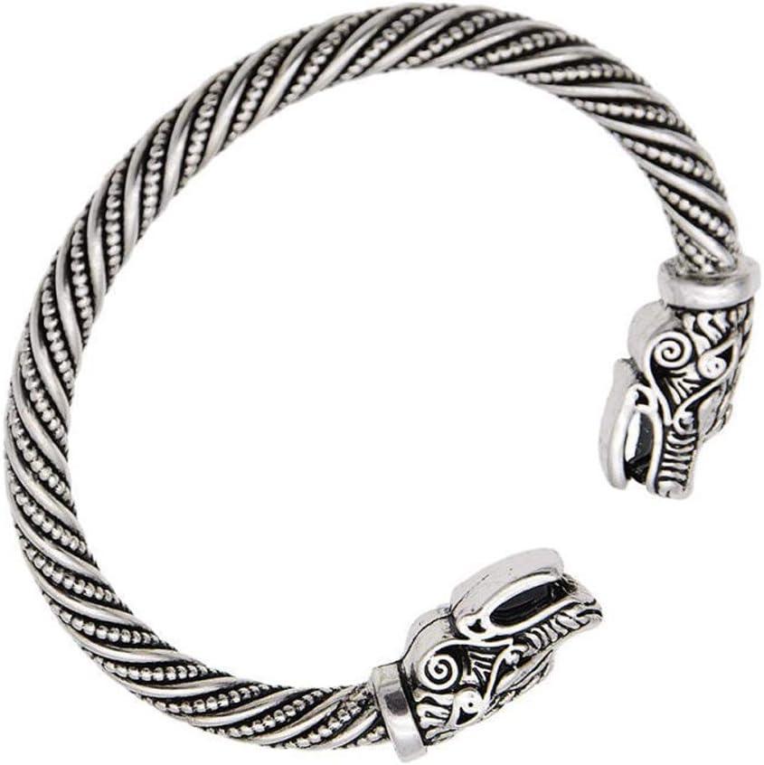 JIACUO 1 Pcs YNuth Chic Bracelet Viking Wolf Head Jewelry Unisex Fashion Jewelry