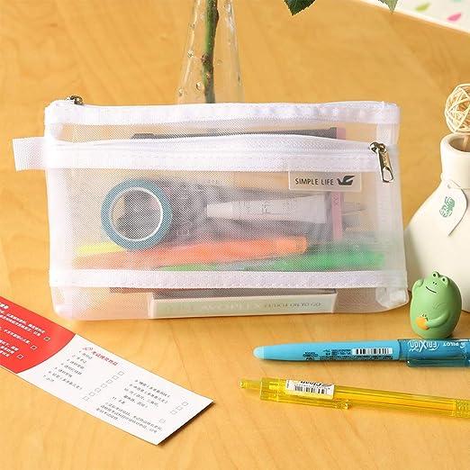 DragonPad - Estuche Transparente para lápices, Color Blanco, XL, tamaño único: Amazon.es: Hogar