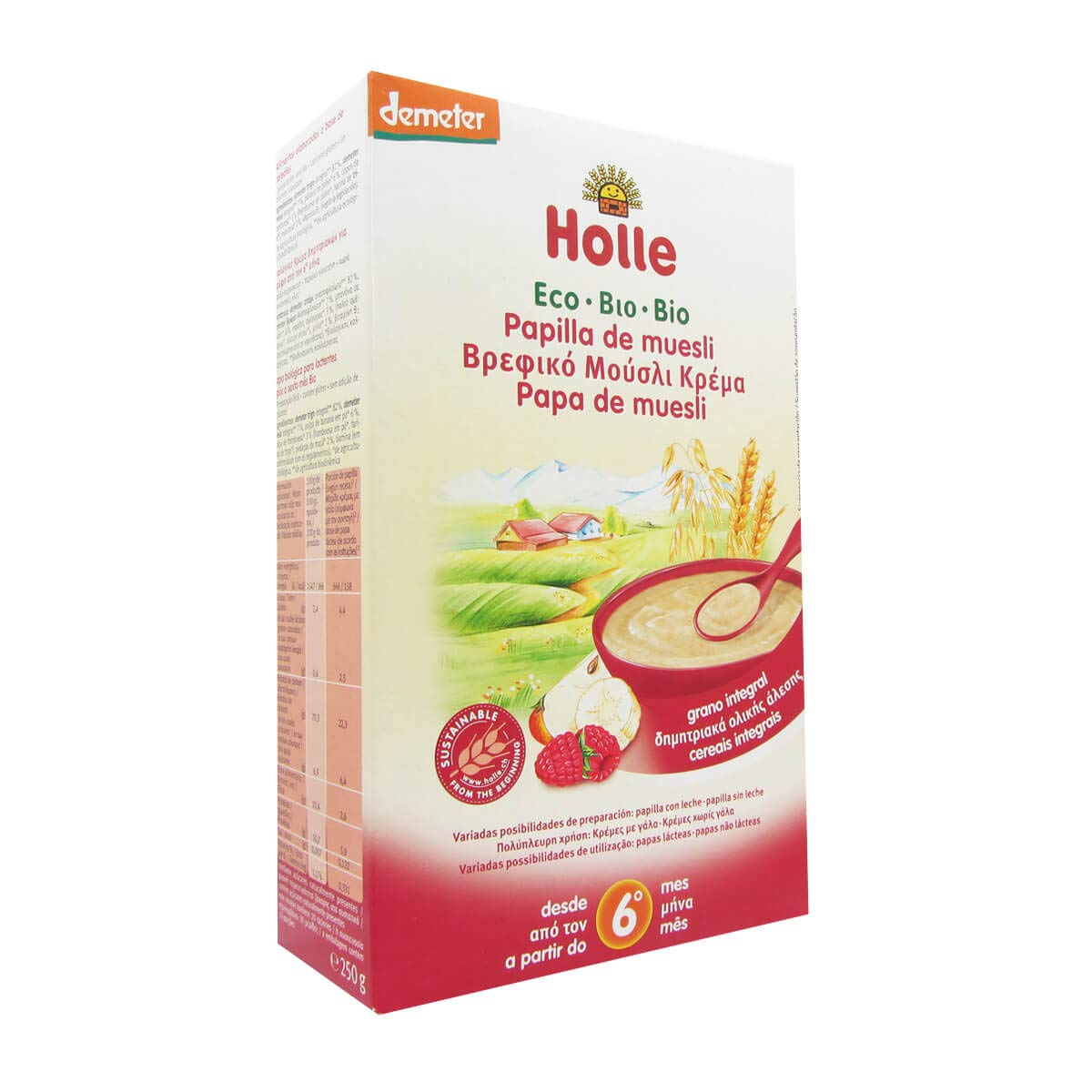 Holle Bio Porridge Muesli 6m + 250g by Holle