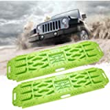 BUNKER INDUST Off-Road Traction Boards with Jack Lift Base, 2 Pcs Recovery Tracks Traction Mat for 4X4 Jeep Mud, Sand…