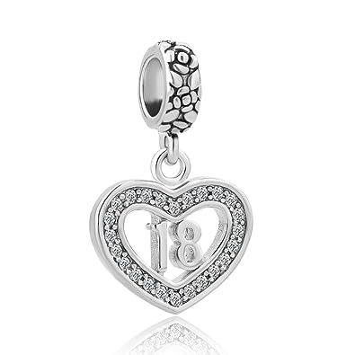 candycharms feliz cumpleaños de 18 Corazón Love Dangle ...