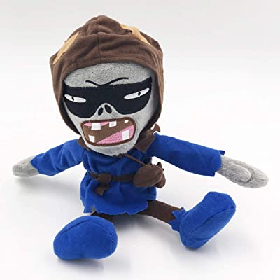 TavasHome Plants vs. Zombies 2 PVZ Figures Plush Stuffed Soft Toys Doll Bandit Zombie: Toys & Games
