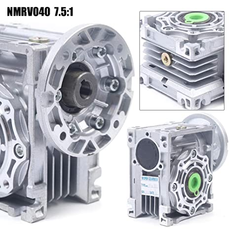 Details about  /NMRV040 Worm Gear 7.5:1 Speed Reducer Gearbox 18mm Output Bore Durable Silver US