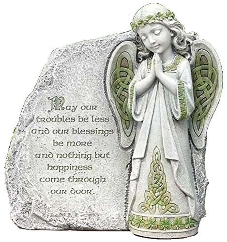 Joseph Studio Irish Angel Praying Outdoor Garden Stone Decoration 64378 New