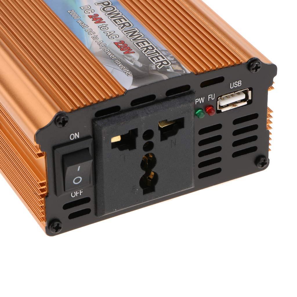 Baoblaze 2000W DC 24V zu AC 220V Spannungswandler Stromwandler Wechselrichter Solar Inverter Wandler