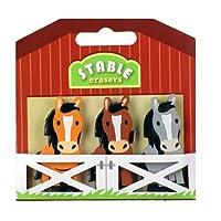 Radiergummis - 3 Pferde im Stall