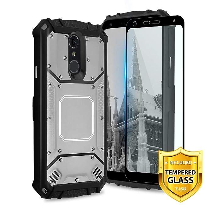 TJS - Carcasa para LG Q7 y LG Q7 Plus, protector de pantalla ...