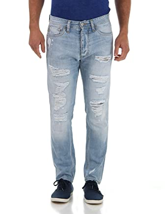 JACK & JONES Men's Erik Anti Fit Jeans (5712615294884_Blue Denim_29W ...