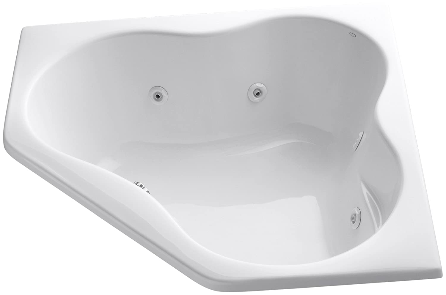 Kohler K-1154-0 5454 Corner Whirlpool, White - Drop In Bathtubs ...