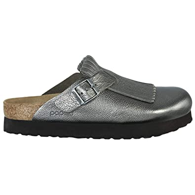 280de4220a9 Papillio Unisex Boston Fringe Metallic Leather Anthracite Sandals 6 W   4 M  US
