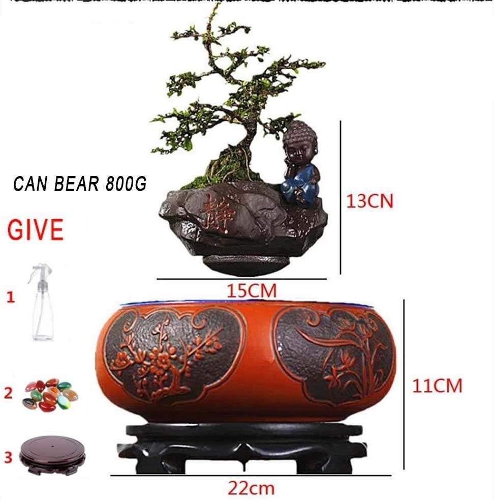 Creative Design Levitation Bonsai Magnetic Suspension Levitating Air Flower Pots Garden Pots,Floating Bonsai Pot Fun Gift,Style-B Home Office Decorations