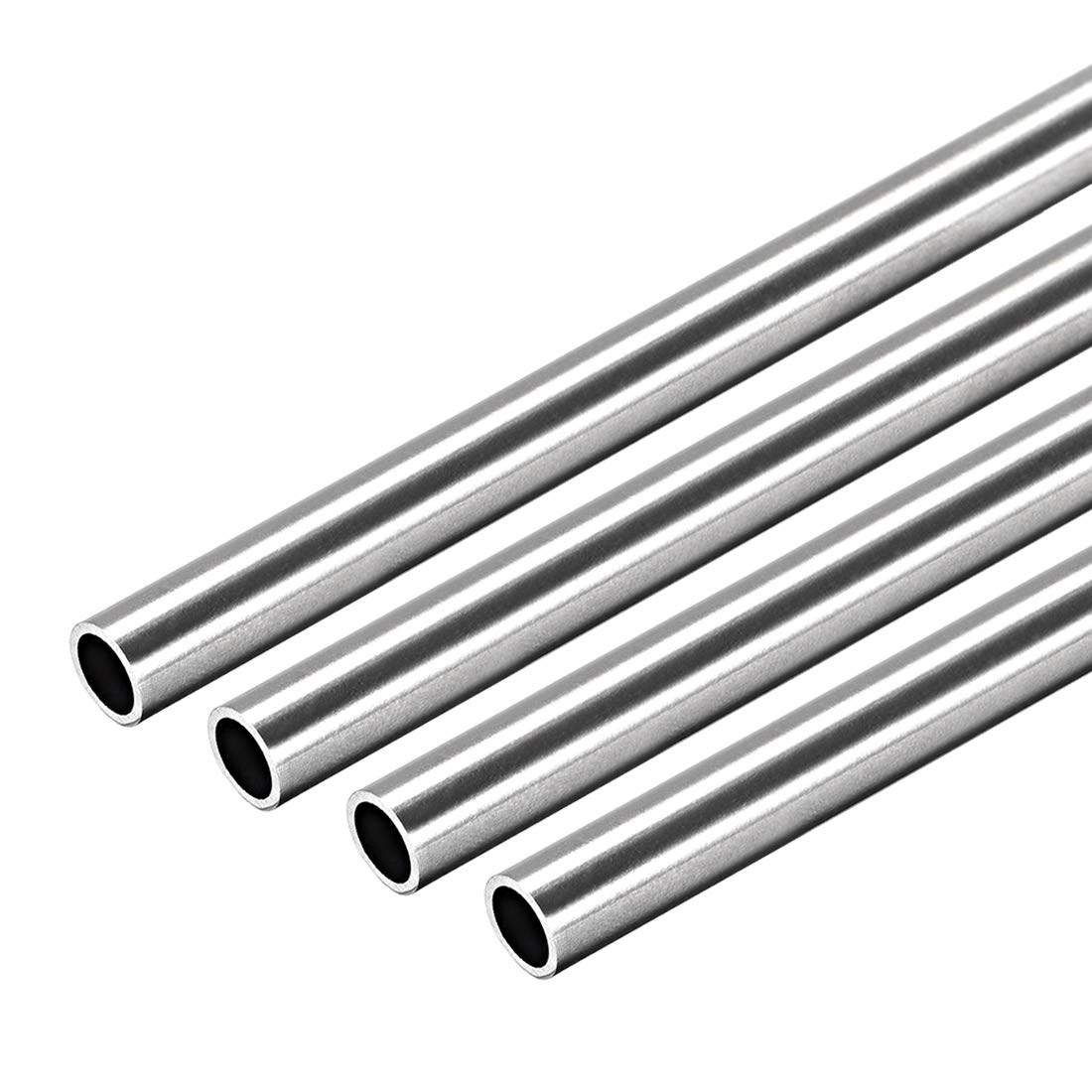 """3//8/""""  Stainless Steel Rod Bar  Round 304   12/"""" long   5 Pcs"""