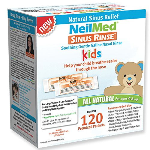 Pediatric Box - NeilMed's Sinus Rinse Pre-Mixed Pediatric Packets, 120-Count Boxes (Pack of 2)