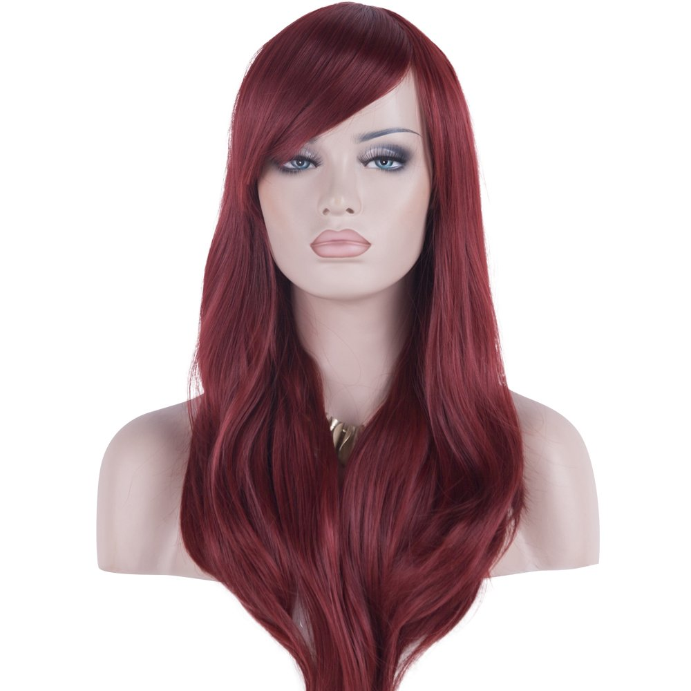 "DAOTS 28"" Wig Long Heat Resistant Big Wavy Hair Women Cosplay Wig (black) DT-00101"