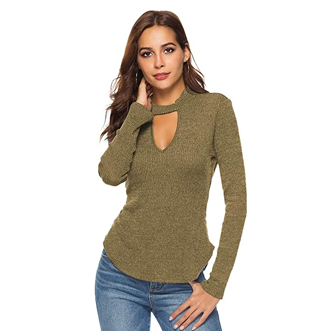 b2c45af8cc Zumine Off Shoulder Sweater Long Sleeve Loose Knit Pullover Sweater ...
