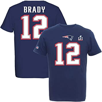 Majestic Tom Brady  12 New England Patriots Super Bowl LI NFL T-Shirt XXL 5e0820bc8d4