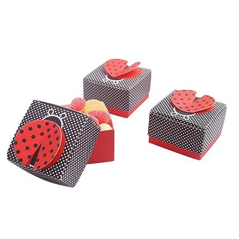 100pz Portaconfetti Scatole cubo Coccinella Bomboniera Laurea battesimo  comunione 9651e9b2994b