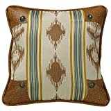 HiEnd Accents Alamosa Western Pillow with Conchos, 18 by 18''