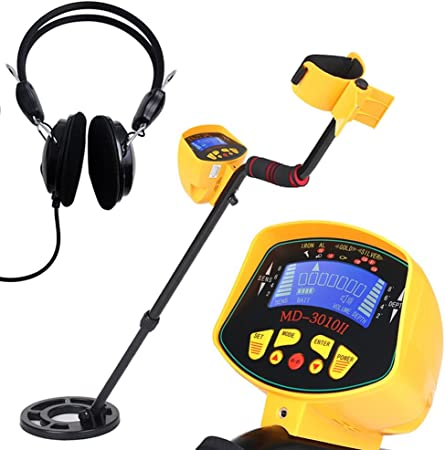 with LCD Display Pinpointer High Sensitivity Gold Digger Waterproof Treasure Finder Seeking Tool 5 Detection Modes Lightweight Metal Detector for Adults